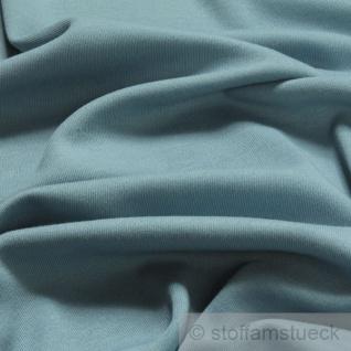 0, 5 Meter Stoff Baumwolle Interlock Jersey pastellblau T-Shirt weich dehnbar