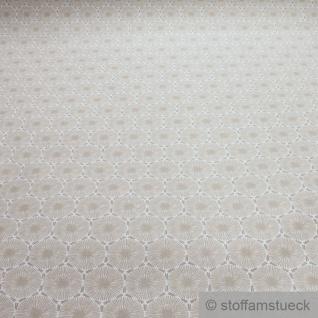 Stoff Baumwolle Acryl Pusteblume beige wasserabweisend beschichtet
