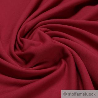 0, 5 Meter Stoff Baumwolle Single Jersey kirschrot angeraut Sweatshirt weich rot - Vorschau 1