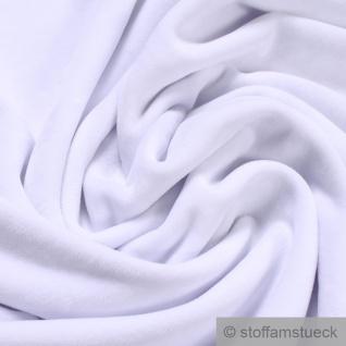 Stoff Baumwolle Polyester Nicki weiß Nicky weich