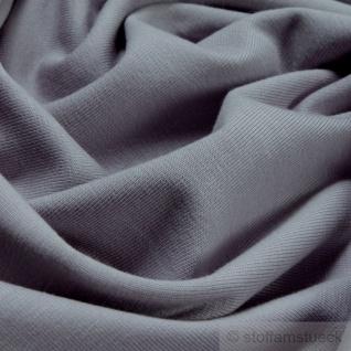 0, 5 Meter Stoff Baumwolle Elastan Single Jersey hellgrau T-Shirt weich dehnbar - Vorschau 2