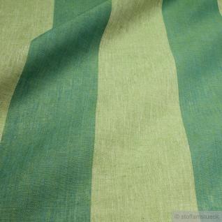Stoff Leinen Leinwand Blockstreifen grasgrün grün leicht Reinleinen transparent