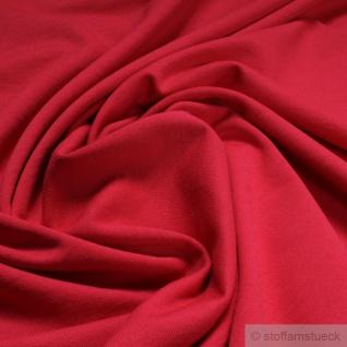 0, 5 Meter Stoff Baumwolle Interlock Jersey rot T-Shirt Tricot weich dehnbar