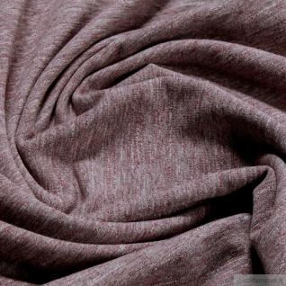 0, 5 Meter Baumwolle Polyester Single Jersey bordeaux angeraut Winter-Sweat - Vorschau 3