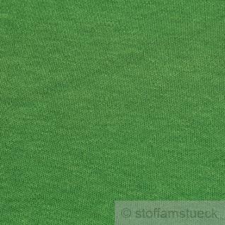 Stoff Baumwolle Interlock Jersey grün T-Shirt Tricot weich dehnbar grasgrün - Vorschau 3