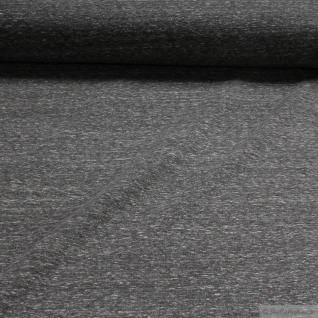 0, 5 Meter Stoff Baumwolle Polyester Elastan Single Jersey grau angeraut Winter-Sweat