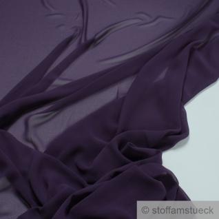 Stoff Polyester Crêpe de Chine sehr leicht violett knitterarm lila
