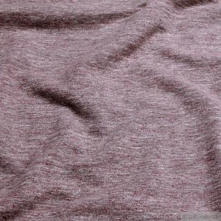 Stoff Baumwolle Polyester Elastan Single Jersey bordeaux angeraut Winter-Sweat - Vorschau 2