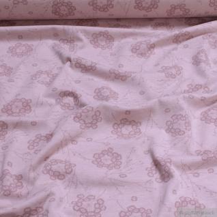 0, 5 Meter Bio-Baumwolle Elastan Single Jersey pastellrosa meliert Pusteblume kbA - Vorschau 2