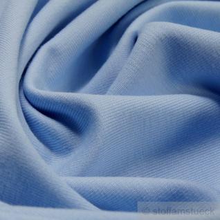 0, 5 Meter Stoff Baumwolle Elastan Single Jersey hellblau T-Shirt weich dehnbar - Vorschau 2