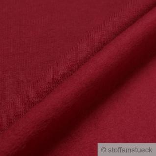 Stoff Baumwolle Single Jersey kirschrot angeraut Sweatshirt weich dehnbar rot - Vorschau 2