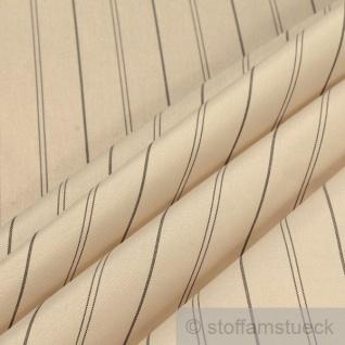 10 Meter Stoff Polyester Futter Taft ecru Streifen Futterstoff Futtertaft