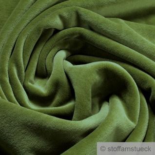 Stoff Baumwolle Polyester Nicki grün Nicky weich grasgrün
