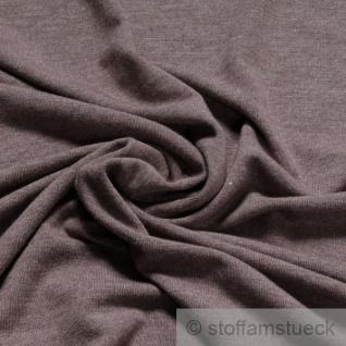 Stoff Polyester Viskose Elastan Single Jersey taupe meliert T-Shirt knitterarm