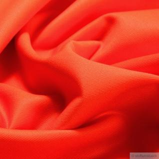 Stoff Baumwolle Feinköper orange Baumwollstoff Köper