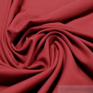 0, 5 Meter Stoff Baumwolle Elastan Single Jersey terracotta T-Shirt weich dehnbar - Vorschau 1