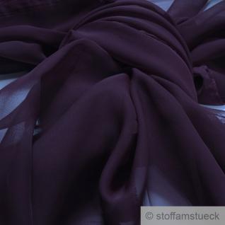 Stoff Polyester Chiffon violett transparent leicht weich fallend