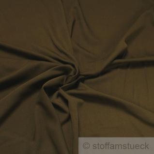 Stoff Viskose Polyester Köper braunoliv olivbraun braun oliv weich fließend