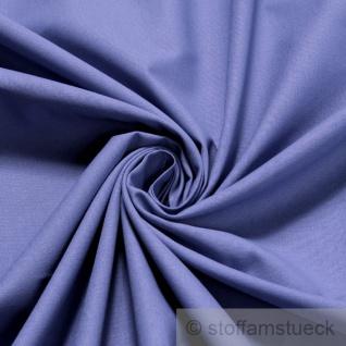 Stoff Baumwolle Leinwand mittelblau blau Baumwollstoff