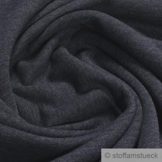 0, 5 Meter Baumwolle Polyester Jersey angeraut dunkelgrau Sweatshirt weich grau
