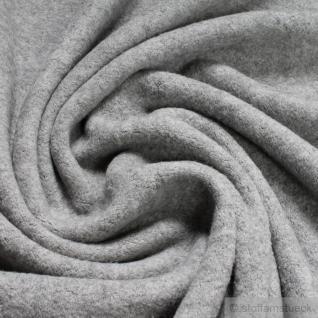 Stoff Baumwolle Polyester Fleece hellgrau Baumwollfleece Plüsch kuschelig