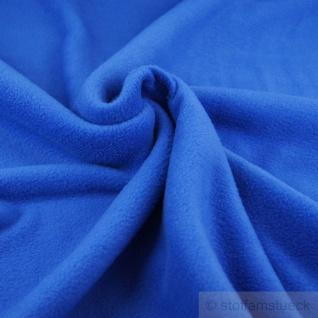 Stoff Polyester Fleece kobaltblau warm weich blau