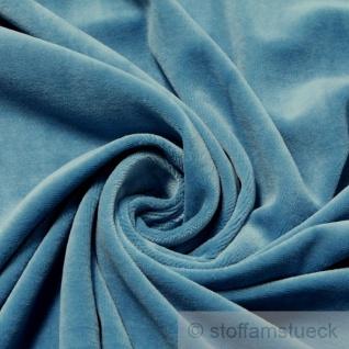 Stoff Baumwolle Polyester Nicki himmelblau Nicky weich