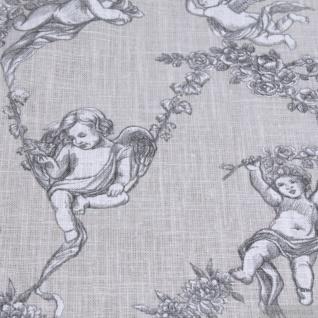 Stoff Ramie Baumwolle Toile de Jouy beige Putte Engel Chinaleinen Grasleinen - Vorschau 4
