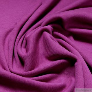 Stoff Baumwolle Interlock Jersey fuchsia T-Shirt Tricot weich dehnbar pink