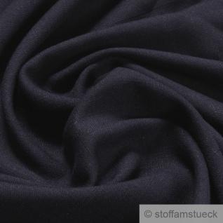 Stoff Polyester Viskose dunkelblau Flammgarn weich fließend fallend blau