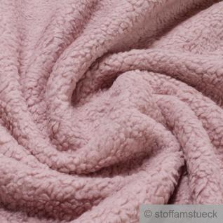Stoff Baumwolle Plüsch Teddy rosa Webpelz weich flauschig