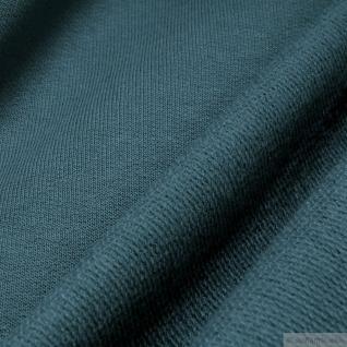 0, 5 Meter Stoff Baumwolle Single Jersey seegrün angeraut Sweatshirt weich grün - Vorschau 2
