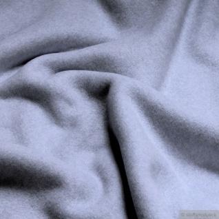 Stoff Bio-Baumwolle Fleece hellblau Baumwolle organic cotton Baumwollfleece blau pastell weich flauschig