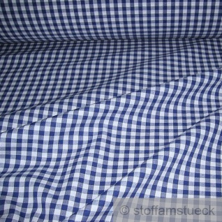 Stoff Baumwolle Vichy Karo groß dunkelblau weiß 5 mm Swafing Canstein blau