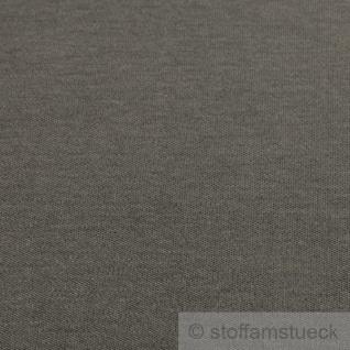 0, 5 Meter Stoff Baumwolle Interlock Jersey dunkelgrau T-Shirt weich dehnbar - Vorschau 3