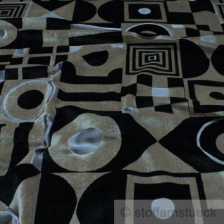 Stoff Samt Quadrat beige schwarz Kreis Polsterstoff Möbelbezug 30.000 Martindale