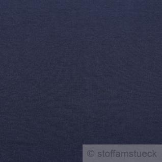 Stoff Baumwolle Interlock Jersey dunkelblau T-Shirt Tricot weich dehnbar - Vorschau 3