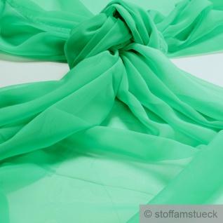 Stoff Polyester Chiffon grasgrün transparent leicht weich fallend grün