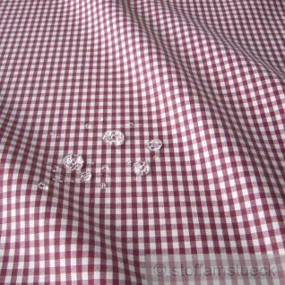 Stoff Baumwolle Acryl Vichy Karo brombeer weiß Regenjacke Wachstuch Tischdecke