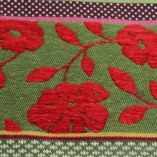 Stoff Baumwolle Jacquard Streifen bunt breit 290 cm breit Punkte Blümchen - Vorschau 3