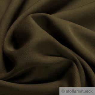 Stoff Polyester Viskose Feinköper braun knitterarm