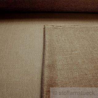 Stoff Polyester Panama braun goldig glänzend Polsterstoff Möbelbezug