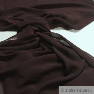 Stoff Polyester Chiffon dunkelbraun transparent leicht weich fallend braun