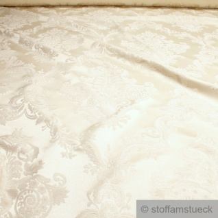 Stoff Polyester Baumwolle Jacquard champagner Ornament Polsterstoff