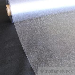 Meterware PVC Klarsichtfolie Glitter silber Folie Tischauflage Öko-Tex Standard
