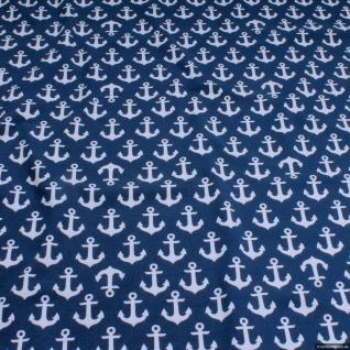 Stoff Baumwolle Lycra Single Jersey dunkelblau Anker Öko-Tex Standard 100