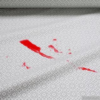 Stoff Baumwolle Acryl Raute weiß grau wasserabweisend Öko-Tex Standard 100