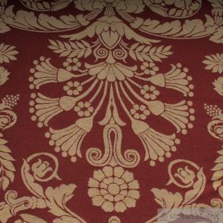 Stoff Polyester Baumwolle Jacquard Ornament klein bordeaux gold 280 cm breit - Vorschau 4