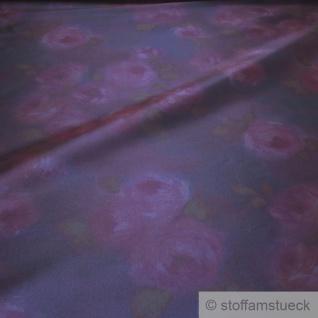 Stoff Polyester Elastan Kleidertaft nachtblau Rose violett Taft dezenter Glanz