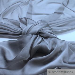 Stoff Polyester Changeant Chiffon grau transparent sehr leicht weich silbrig